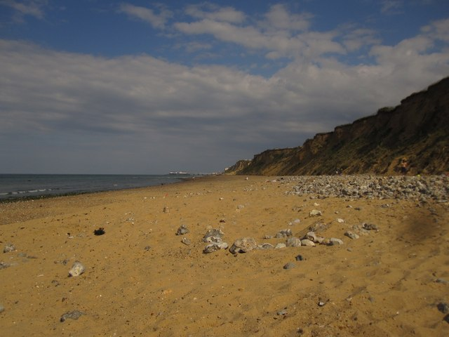 East Runton beach, looking towards Cromer Pier