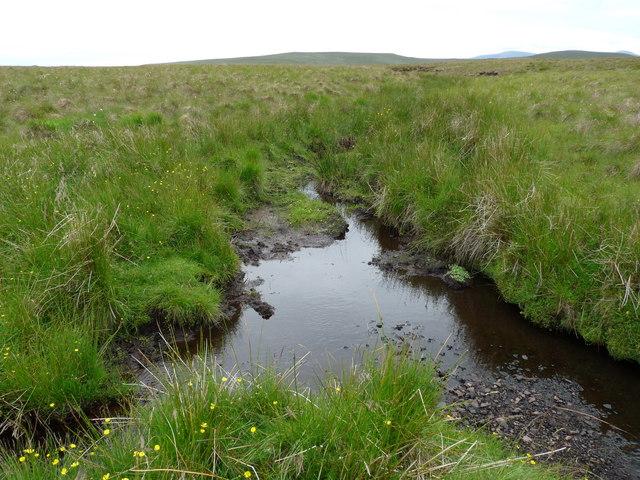 Confluence of the Allt nan Caise and the Allt Ruadh Mor