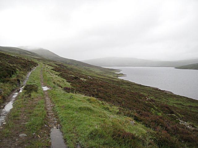 Loch Errochty on a damp day