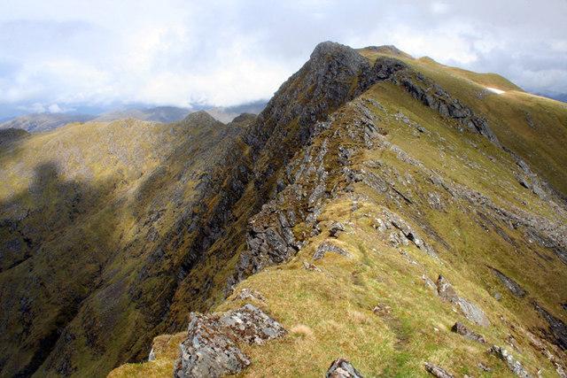 Summit ridge of the Saddle