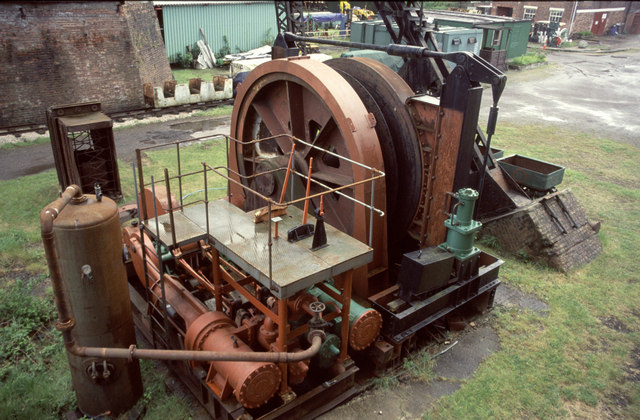 Rope changing winch, Astley Green Colliery