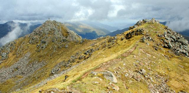 Twin summits of The Saddle