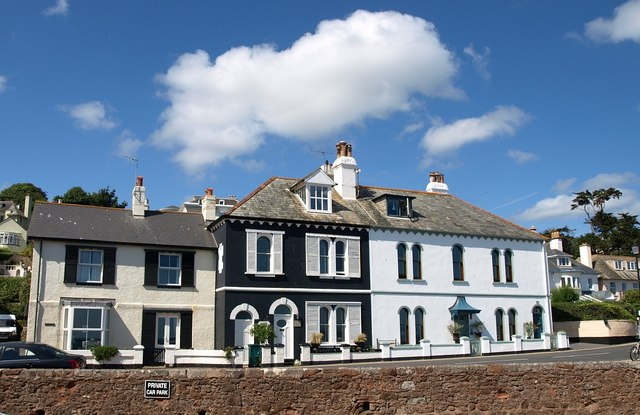 Houses on South Parade, Budleigh Salterton