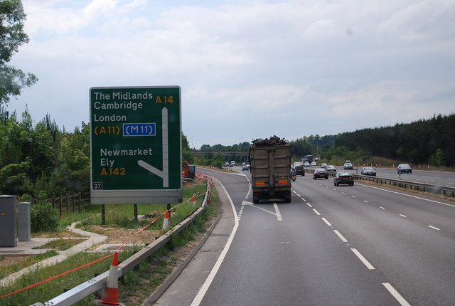 Junction 37 of the A14, Newmarket bypass