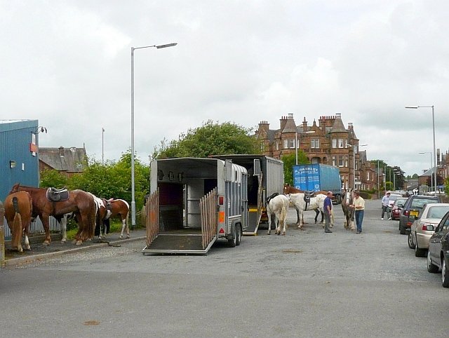 Horses and transport on Station Road
