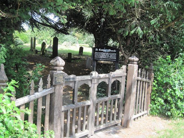 Entrance to St Edith's Churchyard, Little Carlton