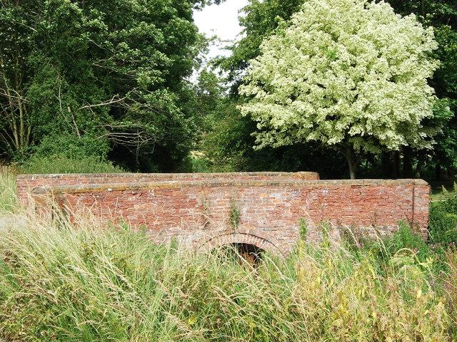 Bridge across moat at Stoneton Manor