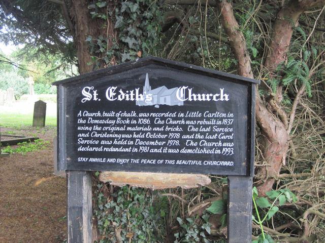 St Edith's Church sign