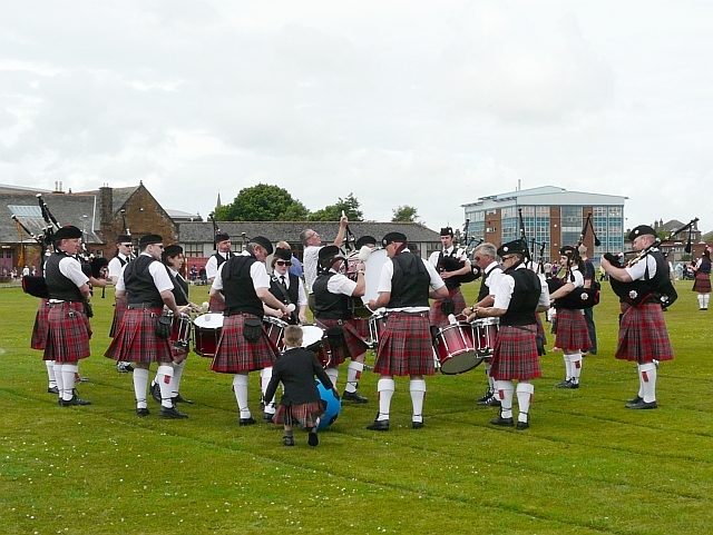 Pipeband practice disrupted