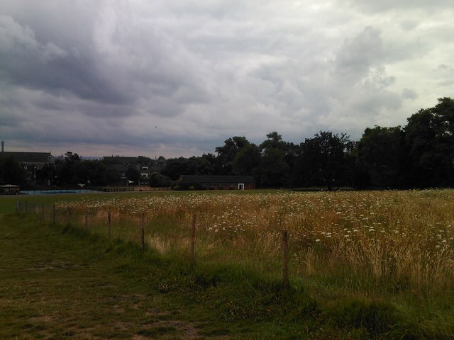 View of the Hampstead Heath sports centre from Parliament Hill