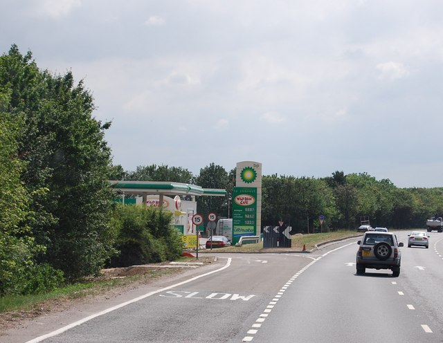 Service area by the A14