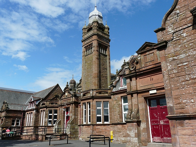 Victorian building at Annan Academy