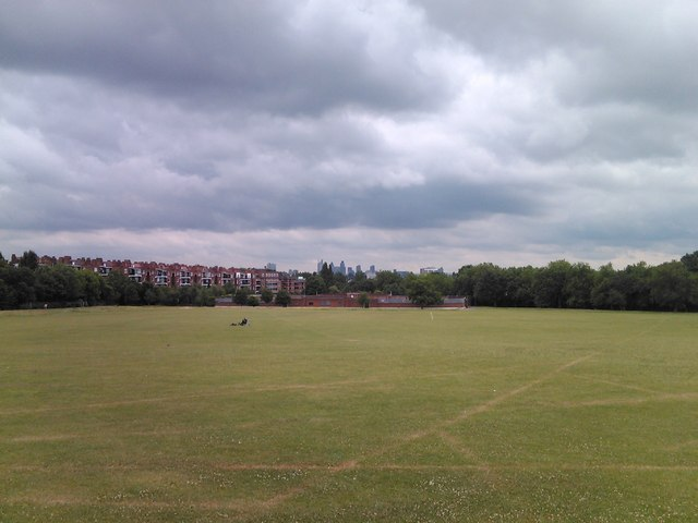 View of the lido in Hampstead Heath