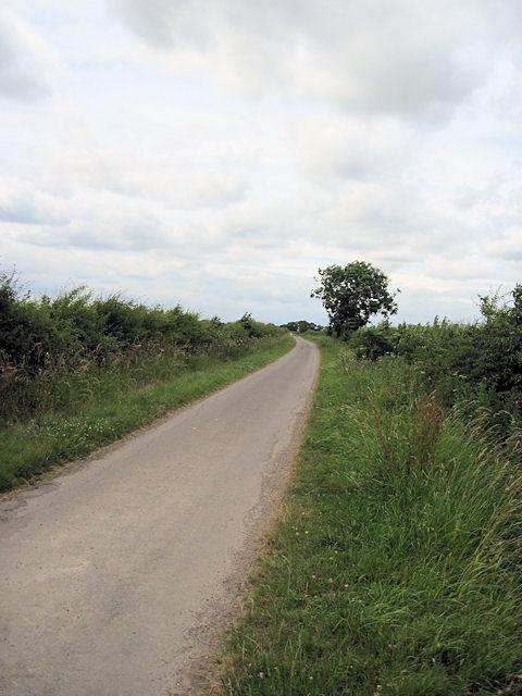 Lane from Pyewipe Farm entrance