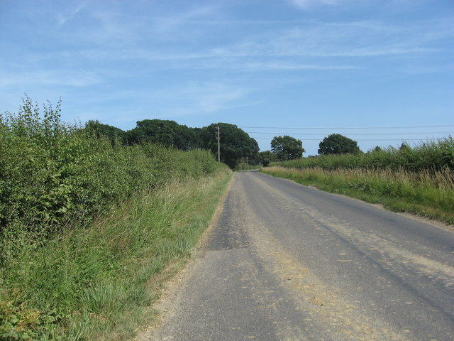 Green Lane between Pear Tree Cottages and Five Oaks