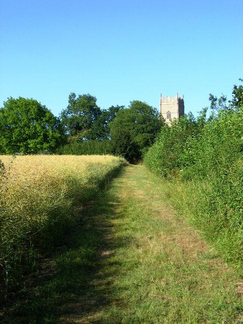 Footpath to St Mary's, Rougham