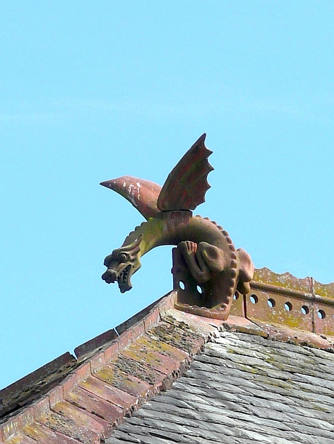 Wyvern roof finial
