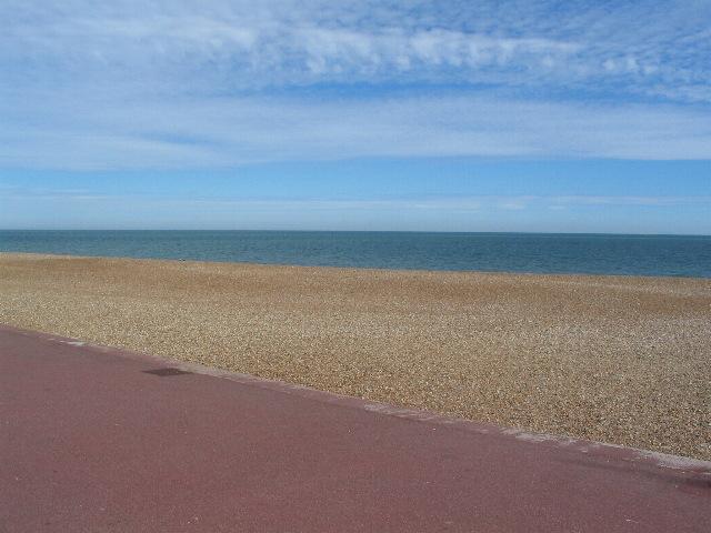 Shingle, sea and sky