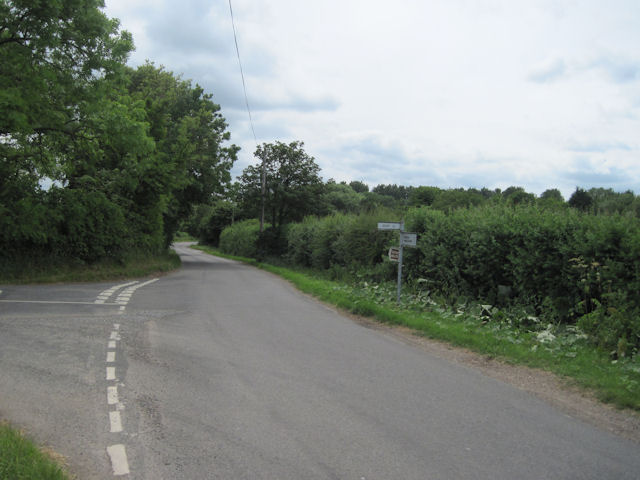 Road junction at Claythorpe