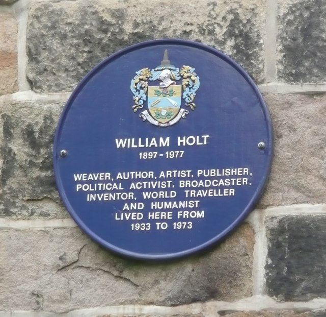 Blue plaque on Kilnhurst House, Todmorden