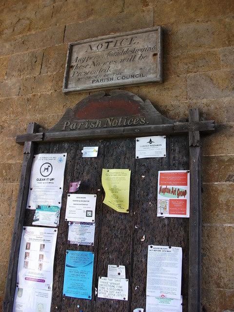 Parish notices, Wormleighton
