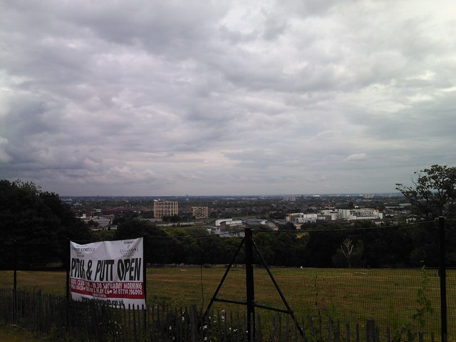 View of the Hornsey/Harringay area and beyond from South Terrace, Alexandra Palace