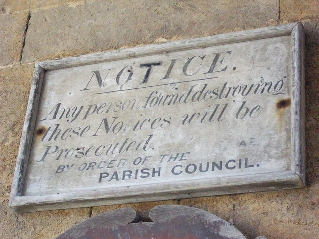 Detail of old sign, Wormleighton