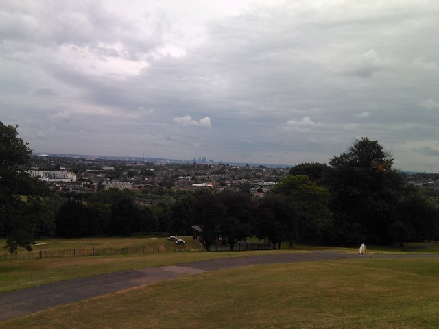View of the Hornsey/Harringay area and beyond from South Terrace, Alexandra Palace #2