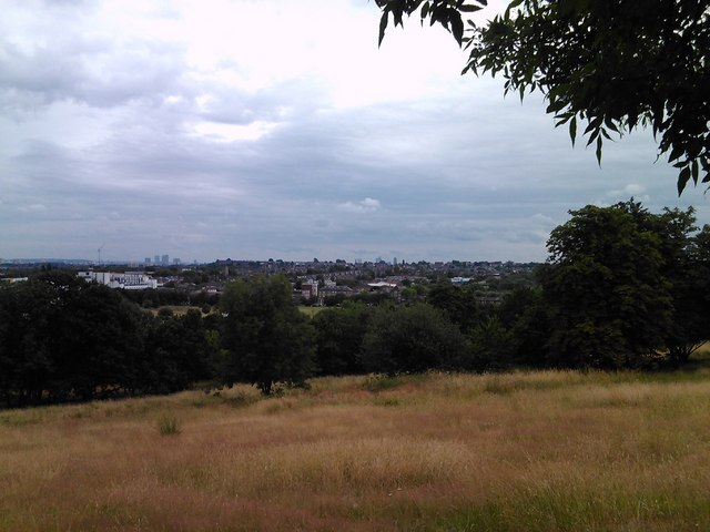 View of the Hornsey/Harringay area and beyond from South Terrace, Alexandra Palace #3