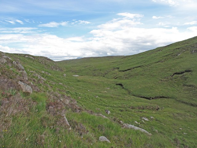 Dry Valley north of Meall na Teanga