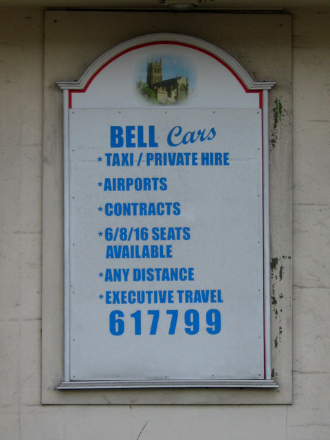 Bell Cars sign, 49 Droitwich Road