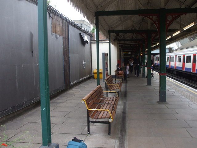 New benches at West Kensington Station