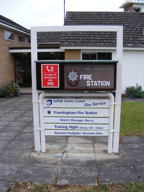 Framlingham Fire Station sign