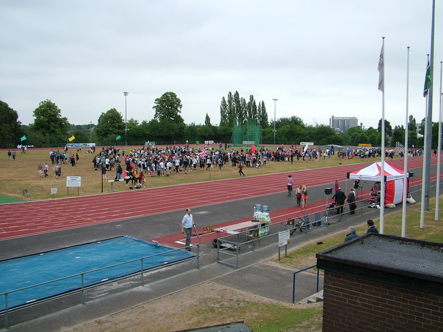 School sports on athletics track