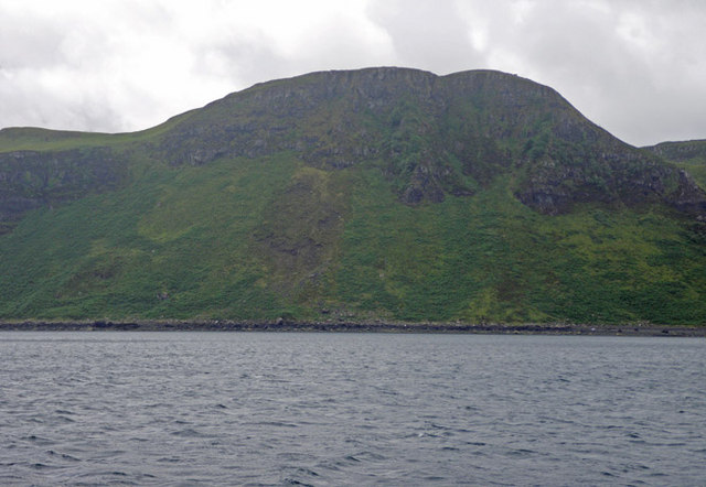 Rugged cliffs along the Sound of Mull