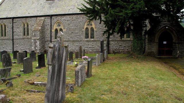 Church and Graveyard at Glan-yr-afon