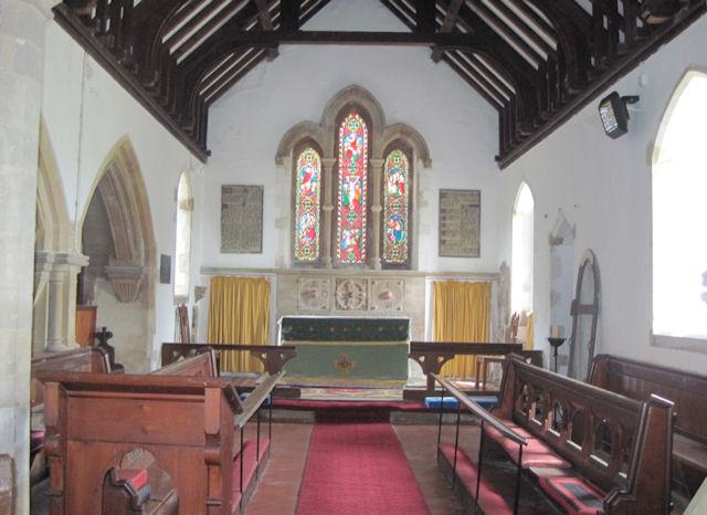Belleau Church interior