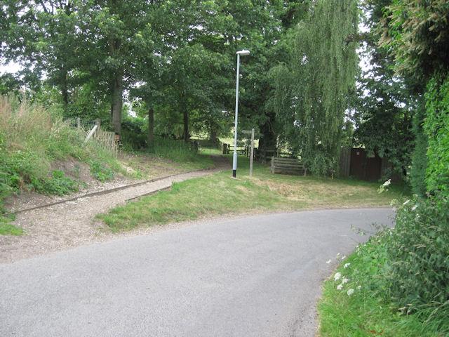 Lane outside Swaby church