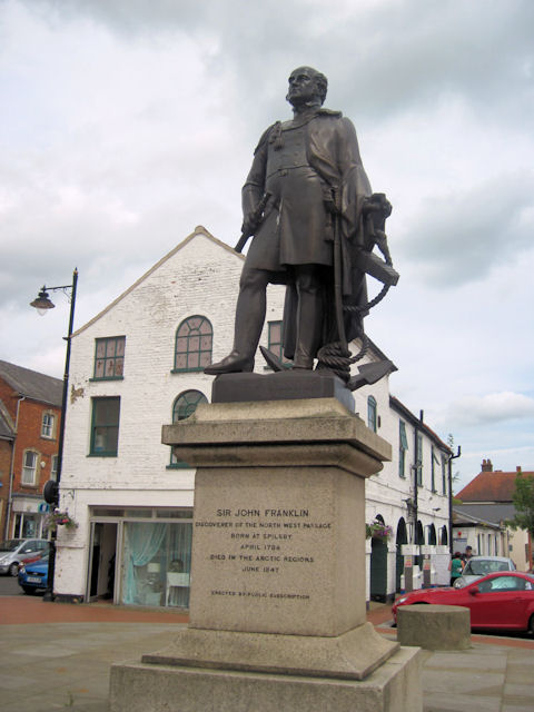 Statue of Sir John Franklin in Spilsby