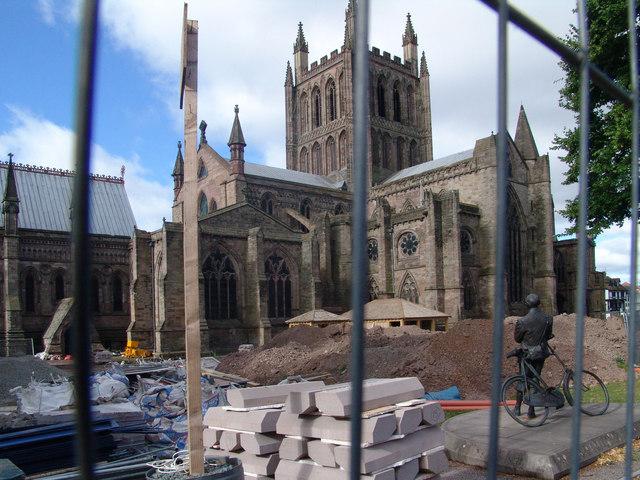 Elgar surveys the chaos of Cathedral Close