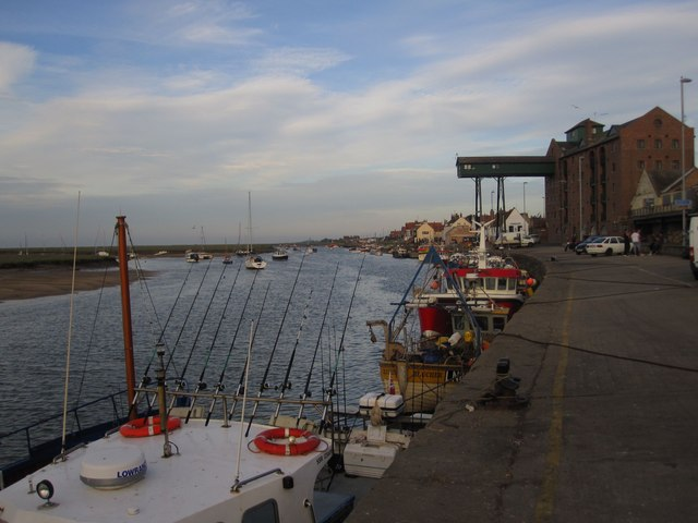 Wells next the Sea: the quayside (ready to fish...)