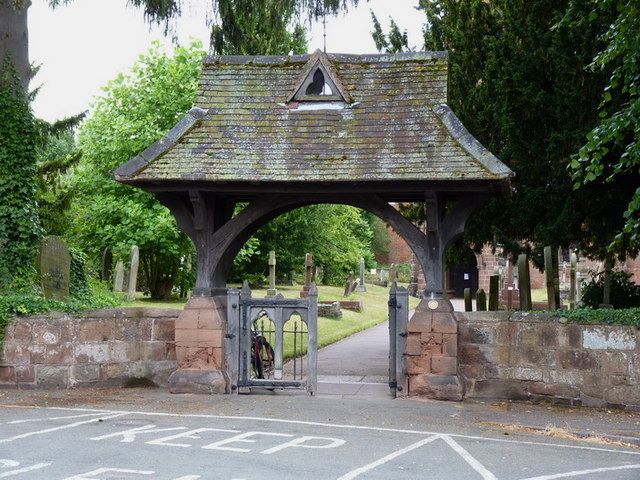 Lych gate at St Chad's church