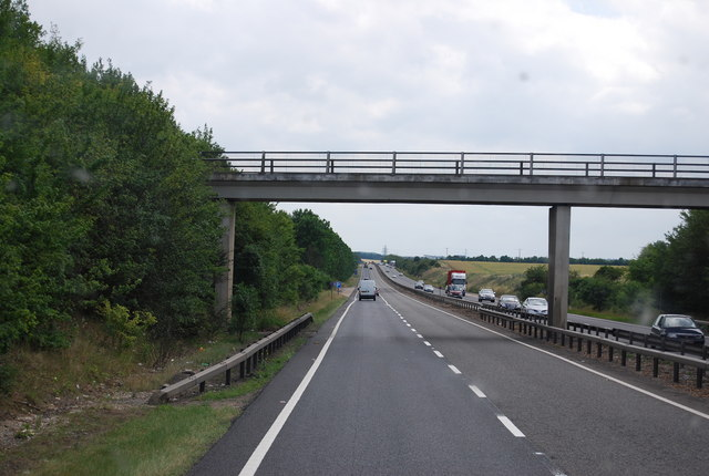 Bridge carrying a byway across the A11