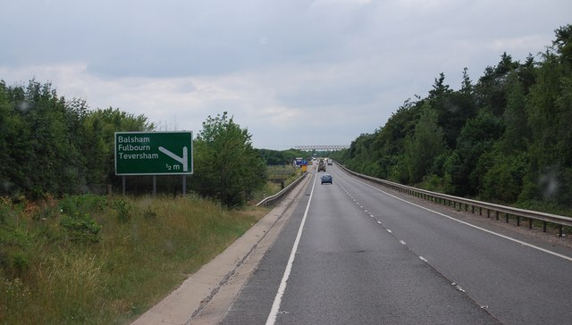 The A11 heading south