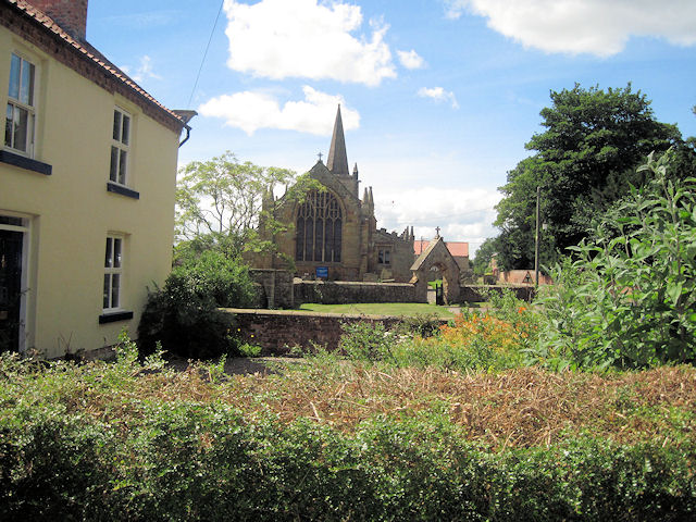 View towards church from B6285