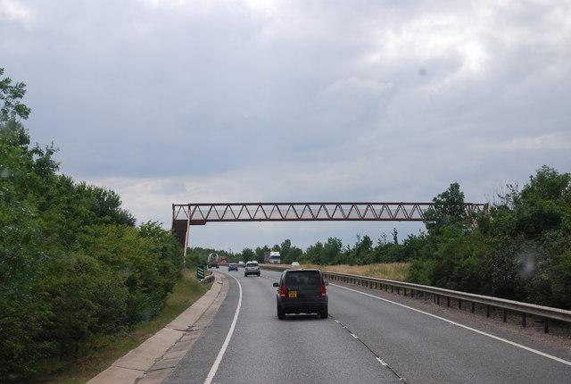 Footbridge crossing the A11