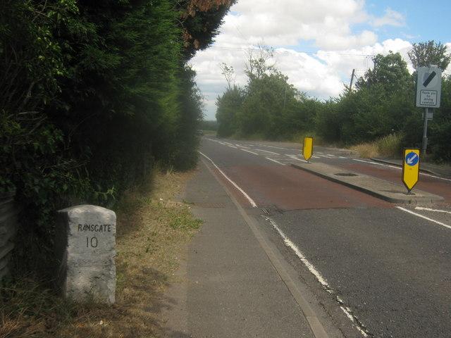 Milestone on Island Road
