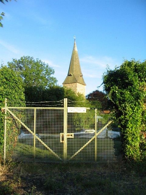 Fordwich church spire