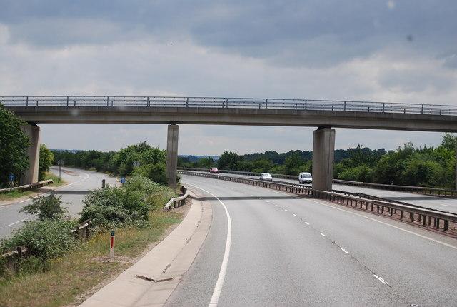Bridge crossing the A11