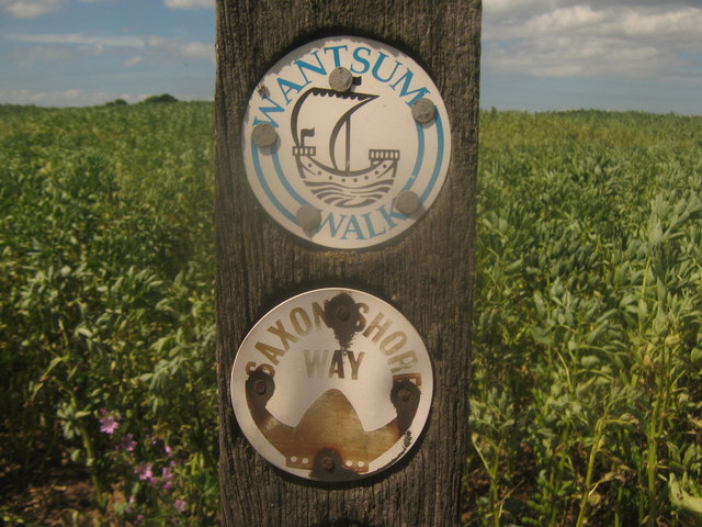 Saxon Shore Way and Wantsum Walk Markers